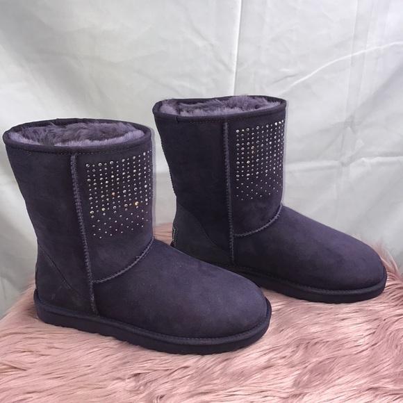 ugg shoes classic short bling boots poshmark rh poshmark com